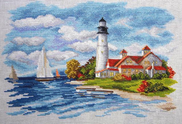 seaside beauty cross stitch pattern 1