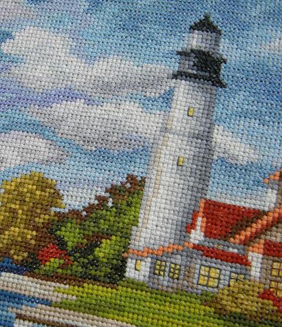 seaside beauty cross stitch pattern 3