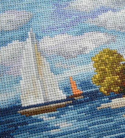 seaside beauty cross stitch pattern 4