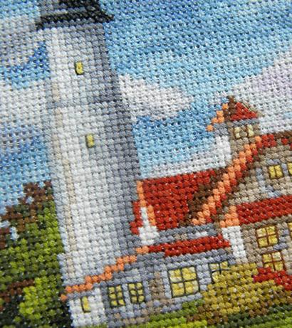 seaside beauty cross stitch pattern 5